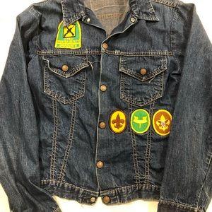 Jackets & Blazers - VINTAGE 70s boy scout jean jacket